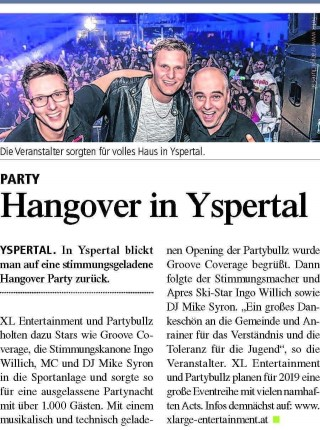 Hangover Party das Original im Yspertal